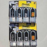 Set of 2 Master Lock Padlock, Magnum Laminated Steel Lock 2 in. Wide M5XQLJ