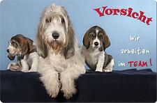 BASSET GRIFFON VENDEEN - A4 Metall Warnschild Hundeschild SCHILD - BGV 05 T16