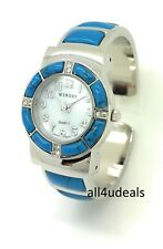 Ladies Silver Metal Bangle Cuff Fashion Watch with Stones Pearl Dial Wincci WB81