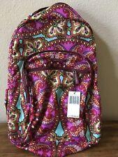 Vera Bradley Lighten up Campus Backpack Resort Medallion School Bookbag Bag