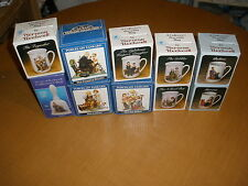 Lot of 10 Norman Rockwell Collector's Mugs and Bell T