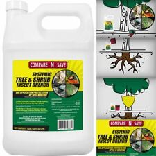 Systemic Tree Shrub Insect Drench 1 Gallon Garden Lawn Insecticide Pest Control
