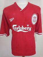 Vintage Shirt Liverpool FC 1996/98 (XL) Home Reebok Jersey Carlsberg No Collar