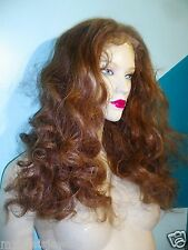 "Full Lace Thin Skin Wig 100% Human Hair Indian Remi Remy 18"" Bodywave Brown #6"