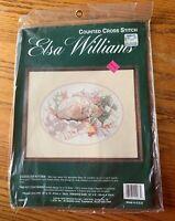NEW Elsa Williams cuddled kitten cat counted cross stitch kit #02067 NIP