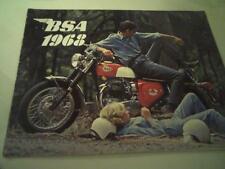 Vintage1968 BSA motorcycle sales brochure(Reprint) All 1968 Model BSA's $17.50