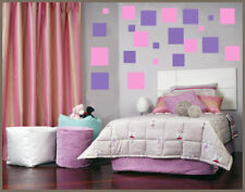 216 SQUARES vinyl wall art sticker bedroom girls decor