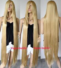 51'' Long Bang Gold Blonde Straight Cosplay Hair Wig 24