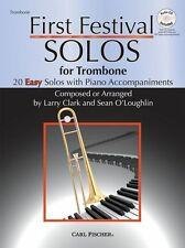 Clark & O'Loughlin First Festival Solos Trombone EASY Beginner Music Book & CD