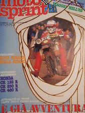 Motosprint 1 1983 Test HONDA CR 125 R Cr 250 R Cr 480 R  [SC.31]