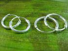 """2pairs"" - 925 sterling silver small 10mm 12mm SLEEPERS HOOPS earrings - UNISEX"