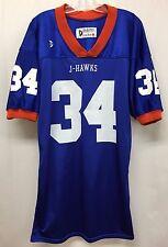 Urbandale Iowa High School J-Hawks Football Jersey DeLong Size Large #34