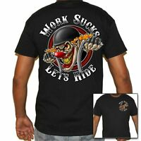 T Shirt cycles Shirt Skull Motorcycle no Harley Stripper funny Biker work sucks
