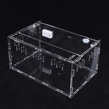Acrylic Reptile Cage Breeding Box Insect Spiders Lizard Breeding Box Terrarium