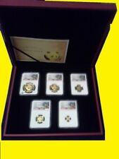 2018 CHINA GOLD PANDA PRESTIGE 6 COIN SET NGC MS 70 FIRST DAY ISSUE coa mint box
