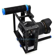 DSLR Camera Aluminum Cage w/15mm Rod Rig Top Handle Kit for Canon 5D Mark II 7D