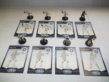 Star Wars Miniatures - Imperial Lot - 8 Figures + Cards