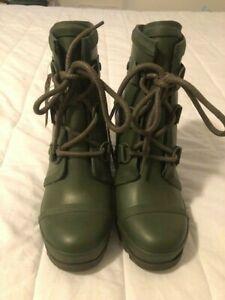 SOREL Joan Rain Wedge Moto Boots Size 6 NEW with tag NO BOX