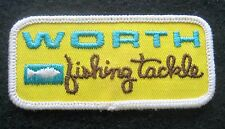 WORTH FISHING EMBROIDERED SEW ON ONLY PATCH TACKLE JIG LURE ANGLER 3 1/2 x 2 1/2