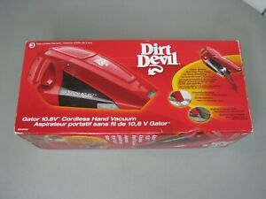 *Brand New* Dirt Devil Gator 10.8V Cordless Hand Vacuum BD10100 Red Rechargeable