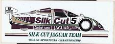 Campeonato del mundo equipo silkcut Jaguar tenido Coches Etiqueta Original Le Mans XJR9