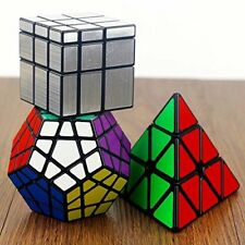 Rubiks Magic Cube Set Pyramid Mirror Megaminx Speed Cube Professional Game 3Pack