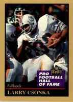 1991 Hall of Fame GOLD #31 Larry Csonka HOF RARE Miami Dolphins / Syracuse