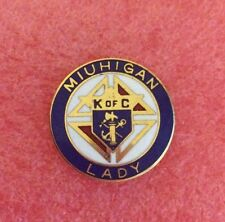 Pins K of C LADY MIUHIGAN KNIGHTS OF COLUMBUS Sword Anchorage Cross Fraternel