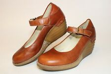 Dr. Martens Womens Size 8 39 Drew Wedge Leather Buckle Mary Jane Shoes 12329