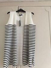 Viscose Striped Plus Size Waistcoats for Women