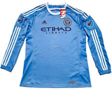 Adidas NEW YORK CITY FC 2015 Home Authentic Long Sleeve Jersey Men XL Soccer MLS