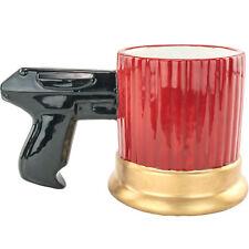 Shotgun Shell Pistol Grip Mug Funny Gag White Elephant Gift Gun Mug Hunter Mug