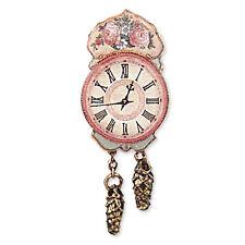 Reutter Porzellan Nostalgieuhr Antique Rose Wall Clock Puppenstube 1:12  1.405/5