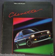 1985 Chevrolet Chevette Catalog Brochure S CS Hatchback Excellent Original 85