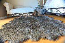 Faux Fur Decors SC Love Furs Area Rugs Black Wolf Furs Home Accents Decors