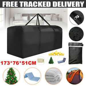 Extra Large Zipped Dustproof Heavy Duty Garden Furniture Cushion Storage Bag UK