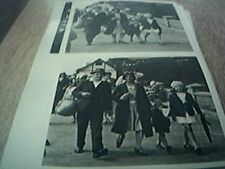 postcard photograph b/w undated old 1920s family group on the prom