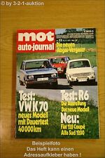 MOT 23/71VW K70 Renault R6 Fiat 128 Coupe Alfa Sud