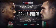 ANTHONY JOSHUA v KUBRAT PULEV WORLD HEAVYWEIGHT CHAMPIONSHIP BOXING MINI POSTER
