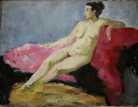 Russian Ukrainian Oil Painting Impressionism female portrait Nude Girl Woman