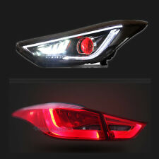 LED Headlights&Sequential Blinker Tail Light Combo For Hyundai Elantra 2011-2016