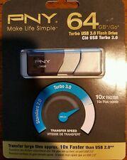Brand New PNY Turbo 64GB USB 3.0 Flash Drive