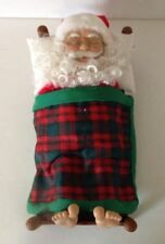 Telco Santa Snoring To Jingle Bells Song Christmas Plastic Faux Wood Bed-Works