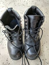 State Street Waterproof Black Boots - Men's Size 6 - Military Style