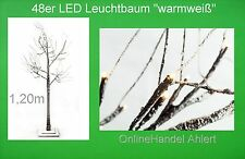 LED Leucht Lichter Weihnachts Baum 120cm Innen Weihnachten Leuchte warmweiß NEU