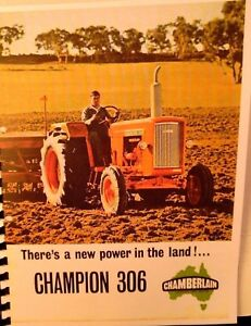 Chamberlain Champion 306 70 H.P.Sales Manual Austrailias Own Tractor Illustrated