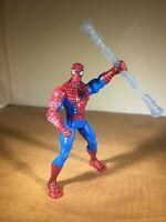 "Spider-Man Web Battlers 6"" Spiderman Action Figure w/ Spinning Staff Hasbro 2010"