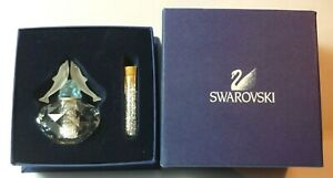 Swarovski Crystal Dolphin Flacon Scent Bottle With Vial Of Crystals Boxed