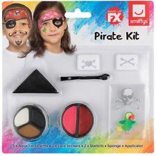 Kinder Piraten Kostüm Schmink Set Buch Tag Gesichtsfarbe Set von Smiffys