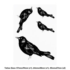 'Blackbird' Temporary Tattoos (TO002654)